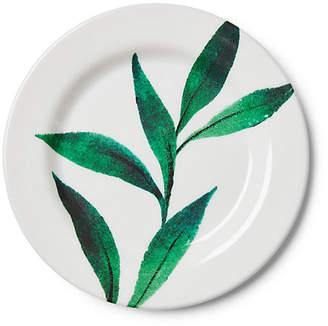 One Kings Lane Set of 4 Draper Melamine Salad Plates - Green/White