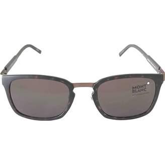 Montblanc Brown Plastic Sunglasses