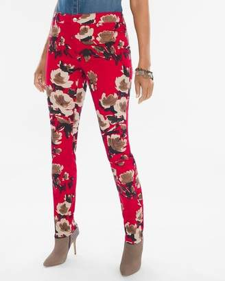 Platinum Painted Deco Floral Jeggings