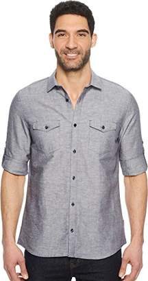 Calvin Klein Mens Roll-Tab Woven Shirt XL One Size