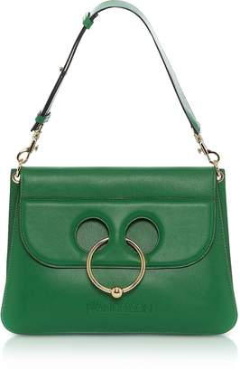 J.W.Anderson Emerald Green Leather Medium Pierce Bag