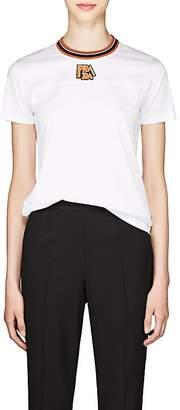 Prada Women's Logo Cotton Jersey Ringer T-Shirt