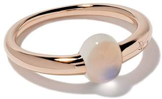 Pomellato 18kt rose & white gold M'ama non m'ama moonstone ring