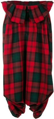 Comme des Garcons Pre-Owned tartan drop-crotch trousers