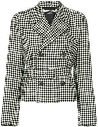McQ belted check jacket