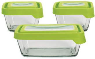 Anchor Hocking TrueSeal Six-Piece Rectangular Glass Food Storage Set with Lids