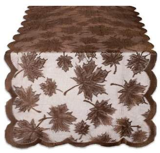 """Design Imports Lace Maple Leaf Table Runner - Brown - 18 X 72"""""""