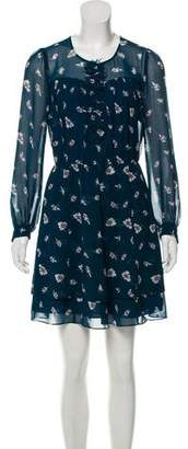 Rebecca Taylor Floral Print Long Sleeve Dress