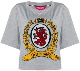 Tommy Hilfiger logo crest flared T-shirt