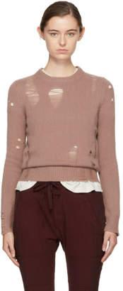 Raquel Allegra Pink Fitted Crewneck Sweater