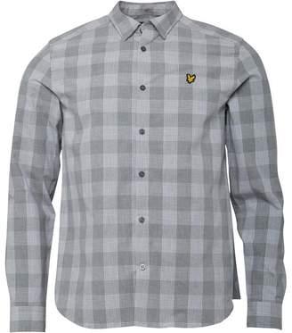 Lyle & Scott Vintage Mens Block Check Shirt Mid Grey Marl