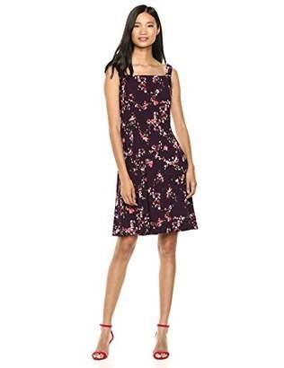 Chaps Women's Printed Floral Matte Jersey Tank-Strap Dress
