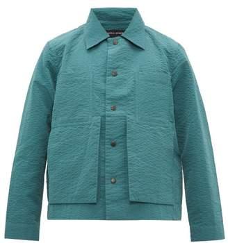 Craig Green Patch Pocket Puckered Canvas Jacket - Mens - Green