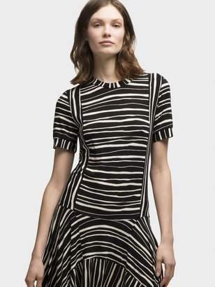 DKNY Printed Drape Dress