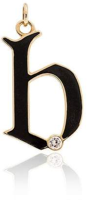 Foundrae 18k gold and diamond B initial charm