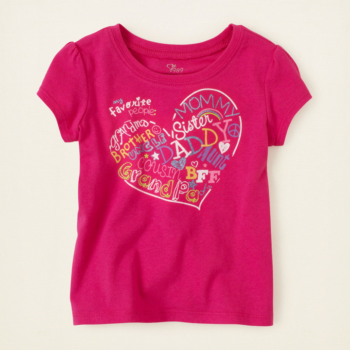 Children's Place Fave people graphic tee