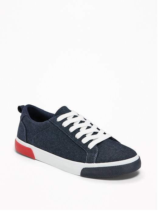 Lace-Up Chambray Sneakers for Boys