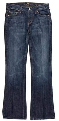 7 For All Mankind Seven Mid-Rise Straight-Leg Jeans