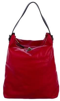 Celine Leather Zip Satchel