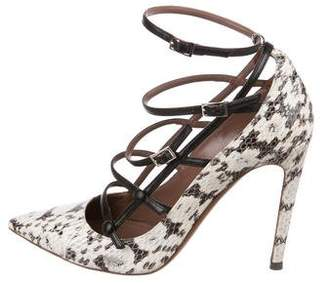 Tabitha Simmons Snakeskin Pointed-Toe Pumps