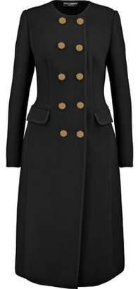 Dolce & Gabbana Crepe-Trimmed Wool-Blend Coat