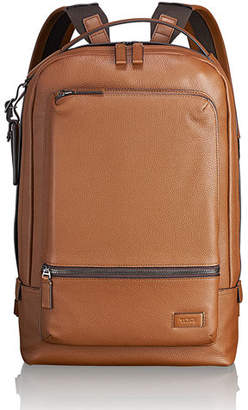 "Tumi Bates Leather Backpack with 14"" Laptop Pocket"