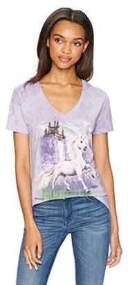 The Mountain Women's Tri-Blend V-Neck Unicorn Castle T-Shirt