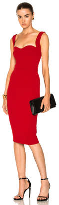 Victoria Beckham Matte Crepe Curve Cami Fitted Dress
