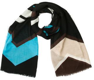 Diane von Furstenberg Multicolor Abstract Scarf $85 thestylecure.com