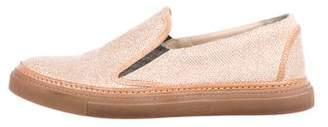 Brunello Cucinelli Glitter Slip-On Sneakers