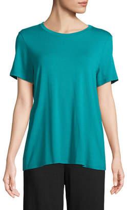 Eileen Fisher Short-Sleeve Lightweight Jersey Top, Petite