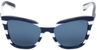 Dolce & Gabbana Butterfly Shape Striped Sunglasses