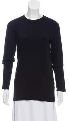 Brunello Cucinelli Knit Long Sleeve Top Black Knit Long Sleeve Top