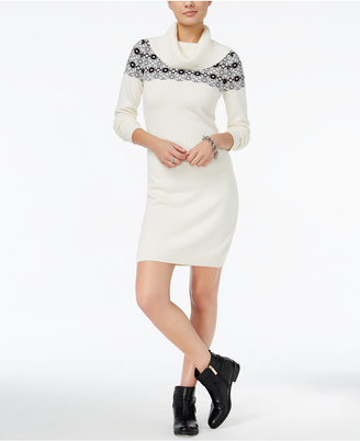 Tommy Hilfiger Geneva Embellished Fairisle Sweater Dress, Only at Macy's $98.50 thestylecure.com