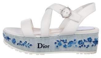 Christian Dior Floral Platform Sandals