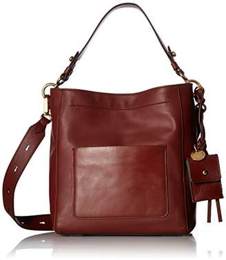 Cole Haan Zoe Small Bucket Crossbody Leather Bag