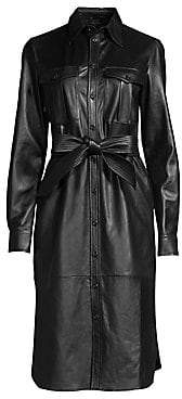 Polo Ralph Lauren Women's Leather Shirtdress