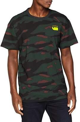 G Star Men's Sverre R T S/s T-Shirt, Multicolour Black HTR/Dk Vermont Green Ao A092