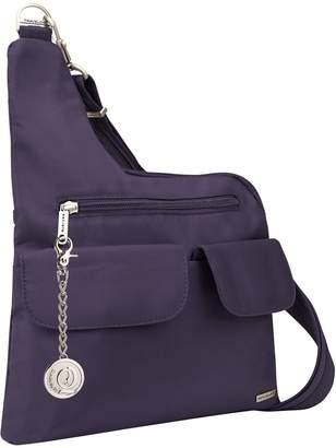 Travelon Anti-Theft Classic Crossbody Bag, Messenger Bag, Handbag, Purse, Metal Charm Keychain