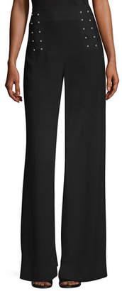 Derek Lam 10 Crosby Sailor Barbell Wide-Leg Pants