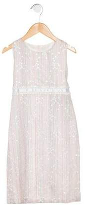 Joan Calabrese Girls' Embellished Sleeveless Dress