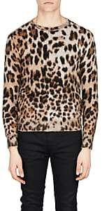 Saint Laurent Men's Leopard Jacquard Sweater - Beige, Tan