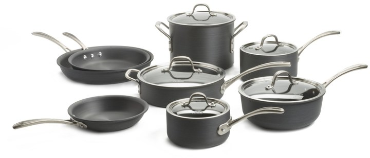 Calphalon Commercial Hard-Anodized Cookware Set - 13-Piece