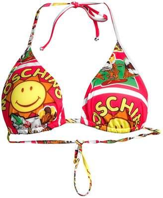 Moschino Flash Swim Sunshine Print String Bikini Top
