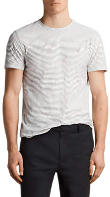 Suburb Short Sleeve Stripe T-Shirt, Chalk/Black