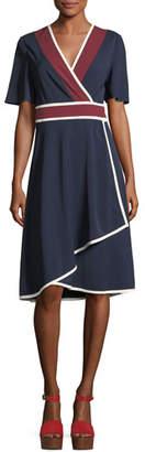 Tory Burch Peggy Jersey Wrap Dress