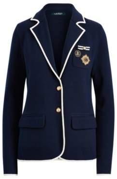 Ralph Lauren Crest Cotton-Blend Blazer Navy/Cream S