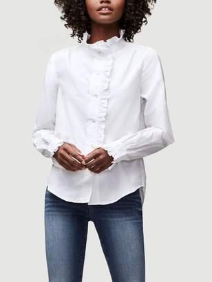 Frame Ruffle Poplin Shirt