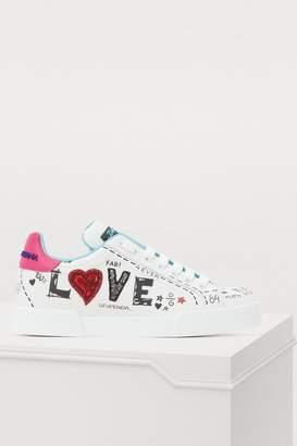 Dolce & Gabbana Customized heart sneakers
