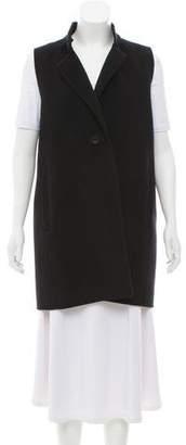 Eileen Fisher Wool Notch-Lapel Vest